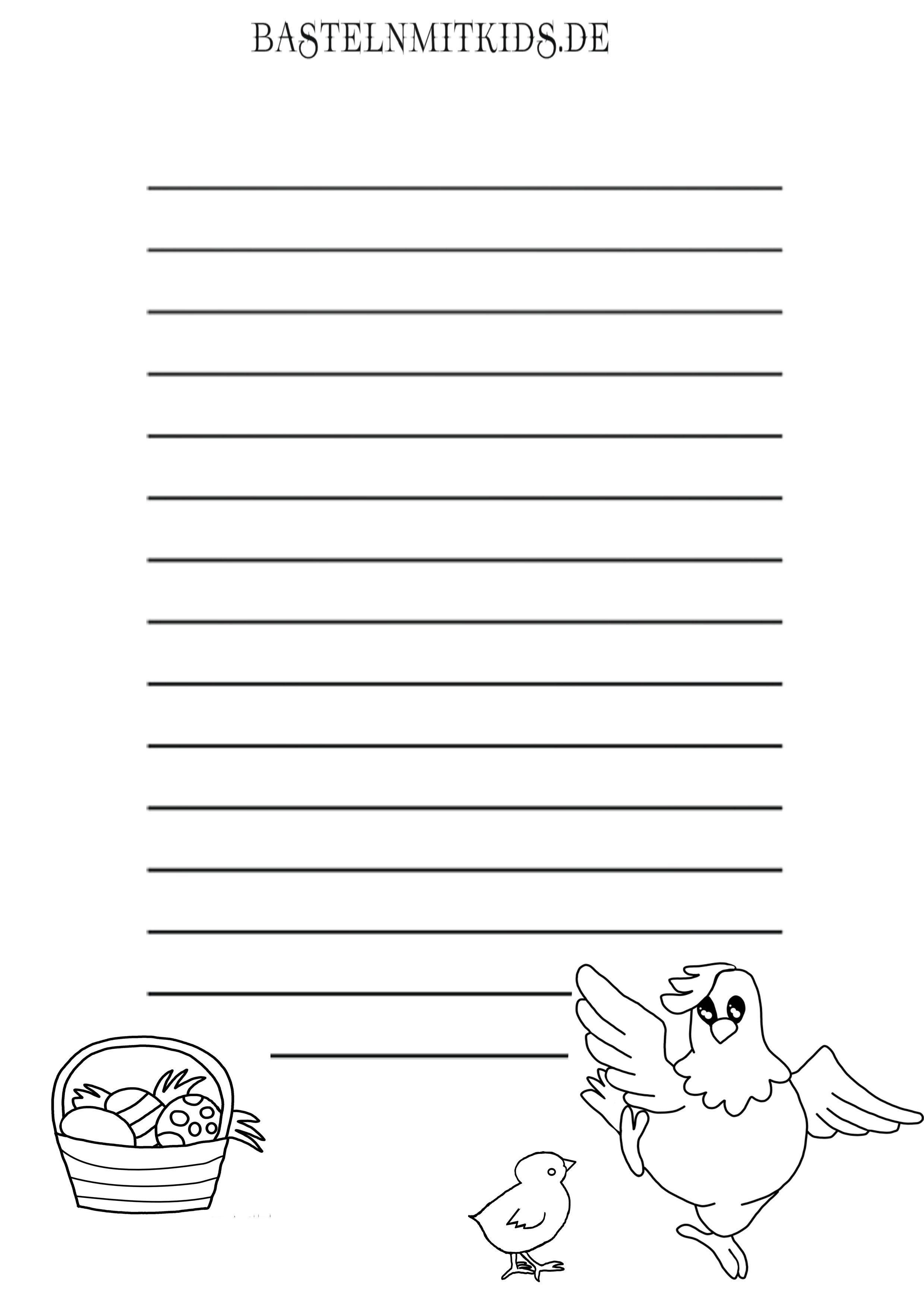 Malvorlagen und Briefpapier Gratis zum Drucken - Basteln mit Kindern