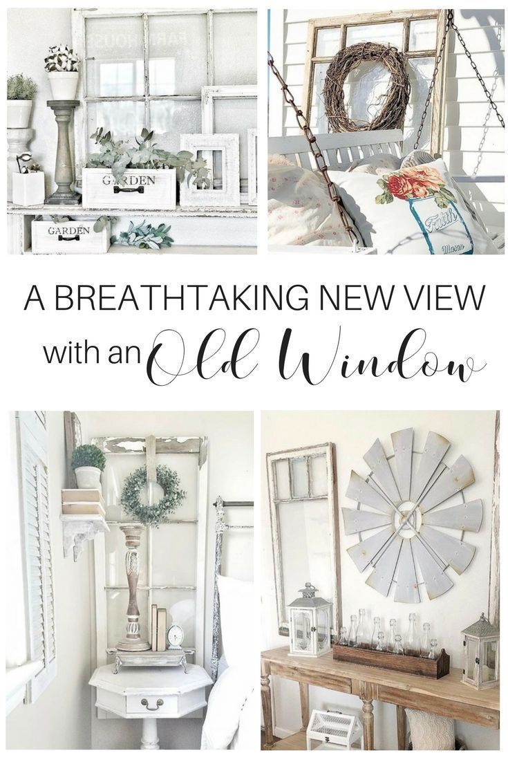 Window pane decor decorating with a creative beautiful old window pane or frame the