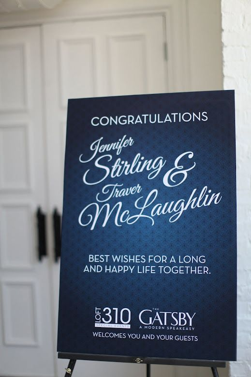 Congratulations Sign at Entry Door for your Reception.