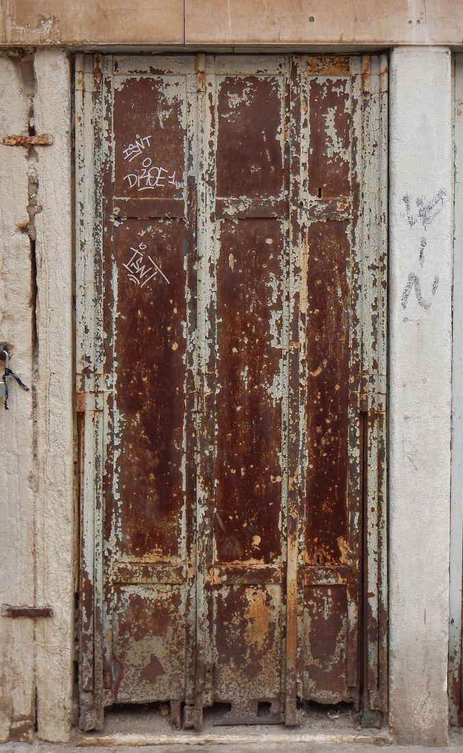 rusted metal door from venice 1 & rusted metal door from venice 1 | Industrial living | Pinterest ...
