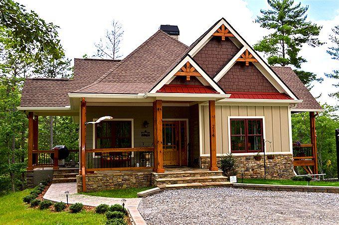 Lake Wedowee Creek Retreat House Plan Exteriors Rustic