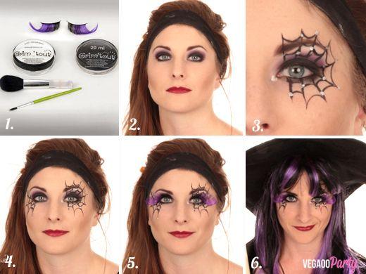 Top chrono un joli maquillage de petite sorci re en 10 minutes id es de f tes maquillage - Maquillage halloween araignee ...