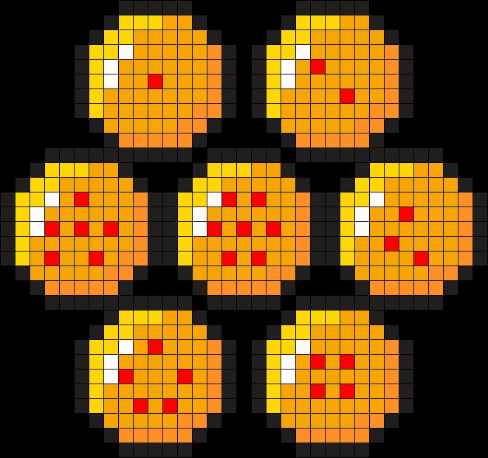 Dragonball Z Balls Perler Bead Pattern Bead Sprite Perler