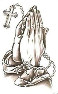 Clip Art Hand With A Rosary