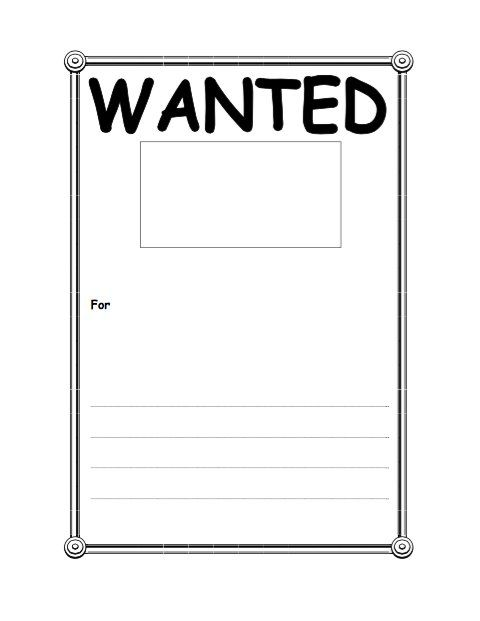 Wanted Poster Template (FBI and Old West, Free) crasy ideas - free wanted poster template