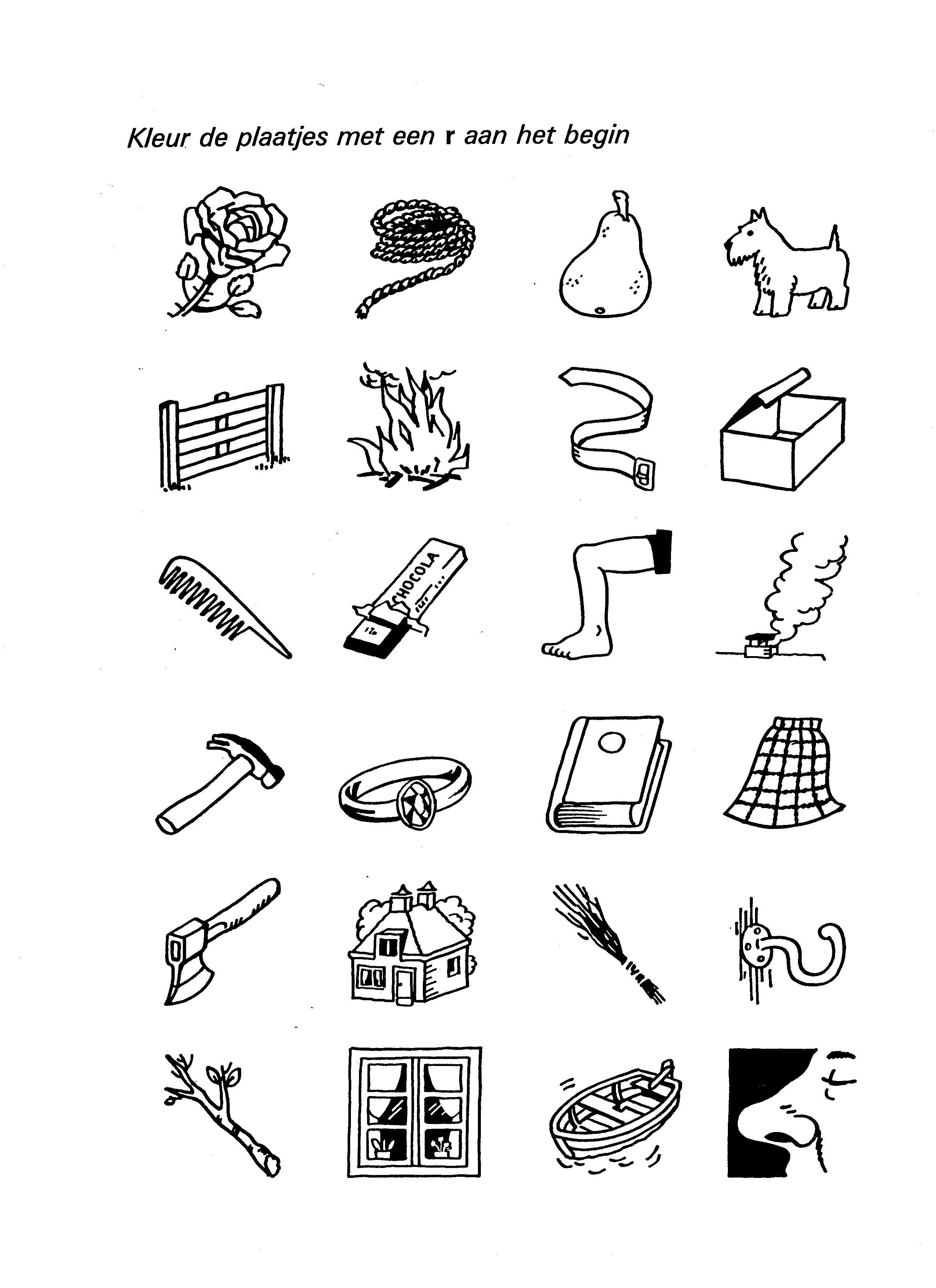 werkblad letter r zoeken letteren