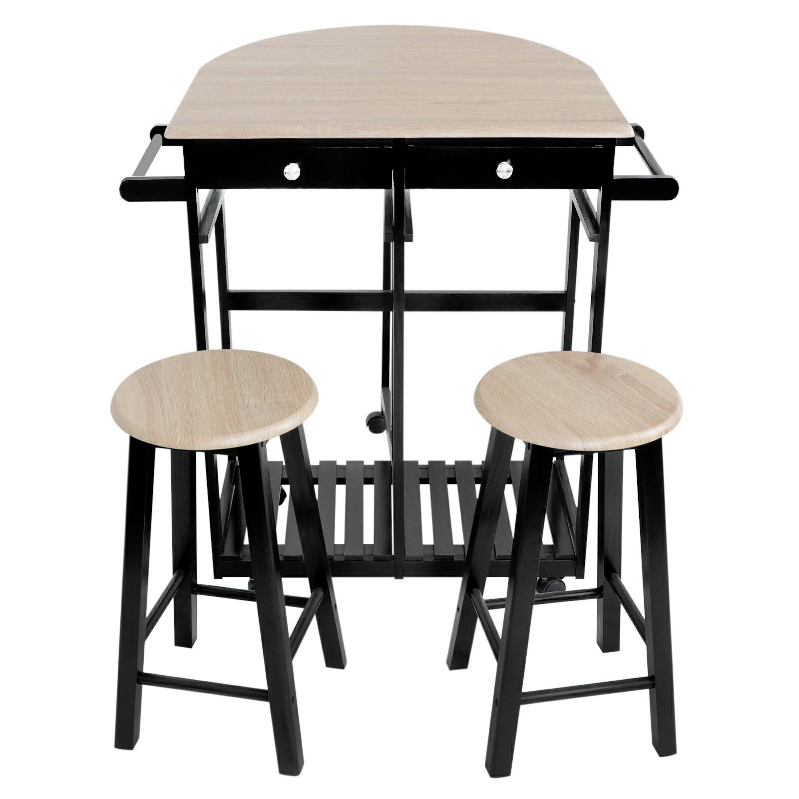 ZENY Home Kitchen Furniture 3Piece Dining Table Set Wooden ...