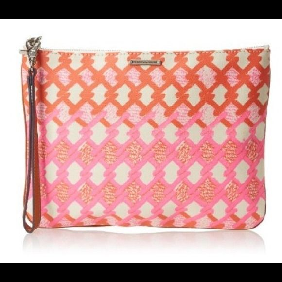 """Rebecca Minkoff Pouch Cosmetic Case  Rebecca Minkoff Pouch Cosmetic Case  Color: Multi  Features: •Imported •Synthetic lining •Zipper closure •8.5"""" high •11"""" wide •Handle has a drop of 7""""  Brand new w all original tags. Rebecca Minkoff Bags Cosmetic Bags & Cases"""