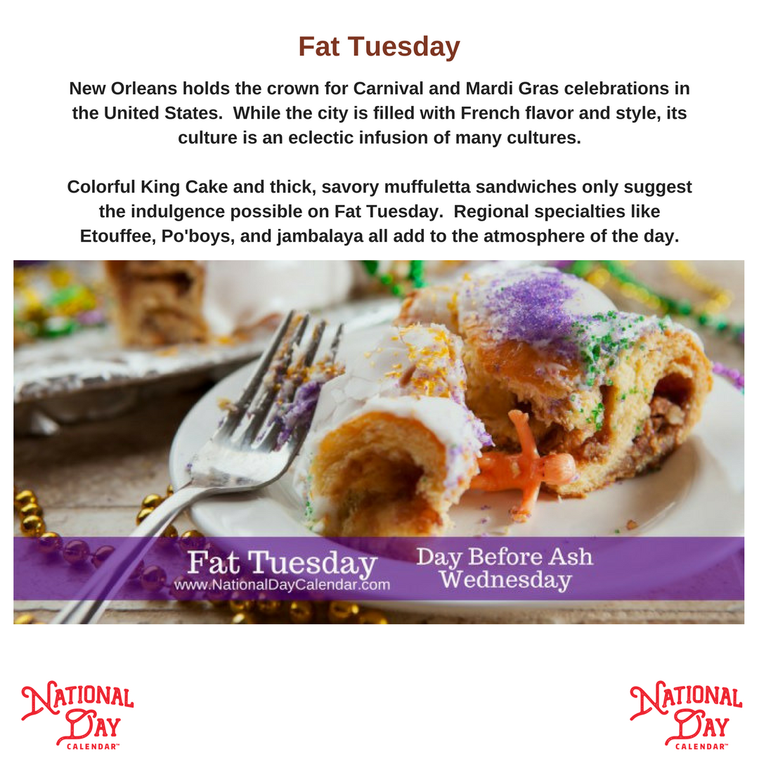 fat tuesday or mardi gras is one big ole celebration dating back to