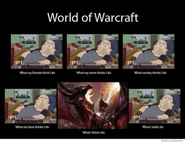World of Warcraft.... what-my-friends-think-i-do-hilarious