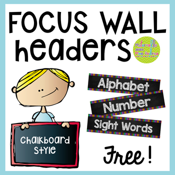 Free Daily Focus Wall Headers English Version By Maternelle Avec Mme Andrea Teachers Pay Teachers Focus Wall Kindergarten Focus Walls Math Focus Walls