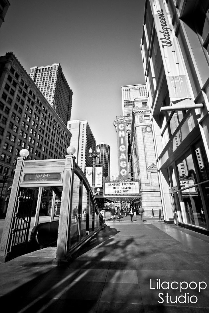 Chicago Theater Black and White  Fine Art Photograph on Metallic Paper by lilacpopphotography on Etsy