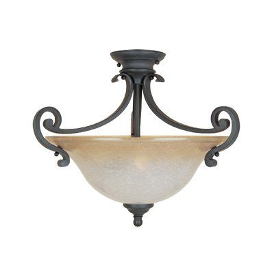 Natural Iron Two Light Semi Flush Ceiling Fixture Joshua Marshal http://www.amazon.com/dp/B00OGMAKU8/ref=cm_sw_r_pi_dp_54K2vb0ST9Q27