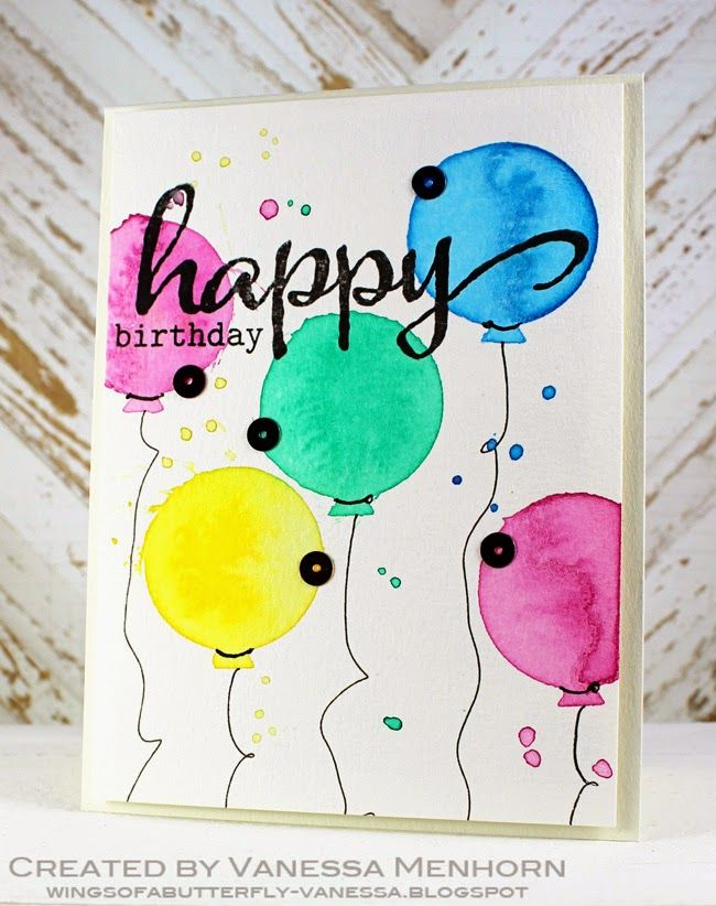 Easy Watercolor Techniques Watercolor Birthday Cards Birthday