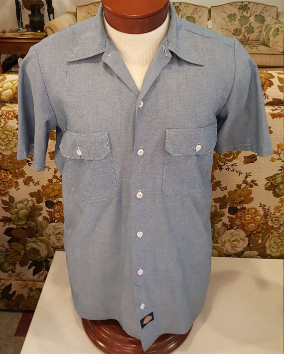 Check out this item in my Etsy shop https://www.etsy.com/listing/488086005/mens-vintage-dickies-short-sleeve-button