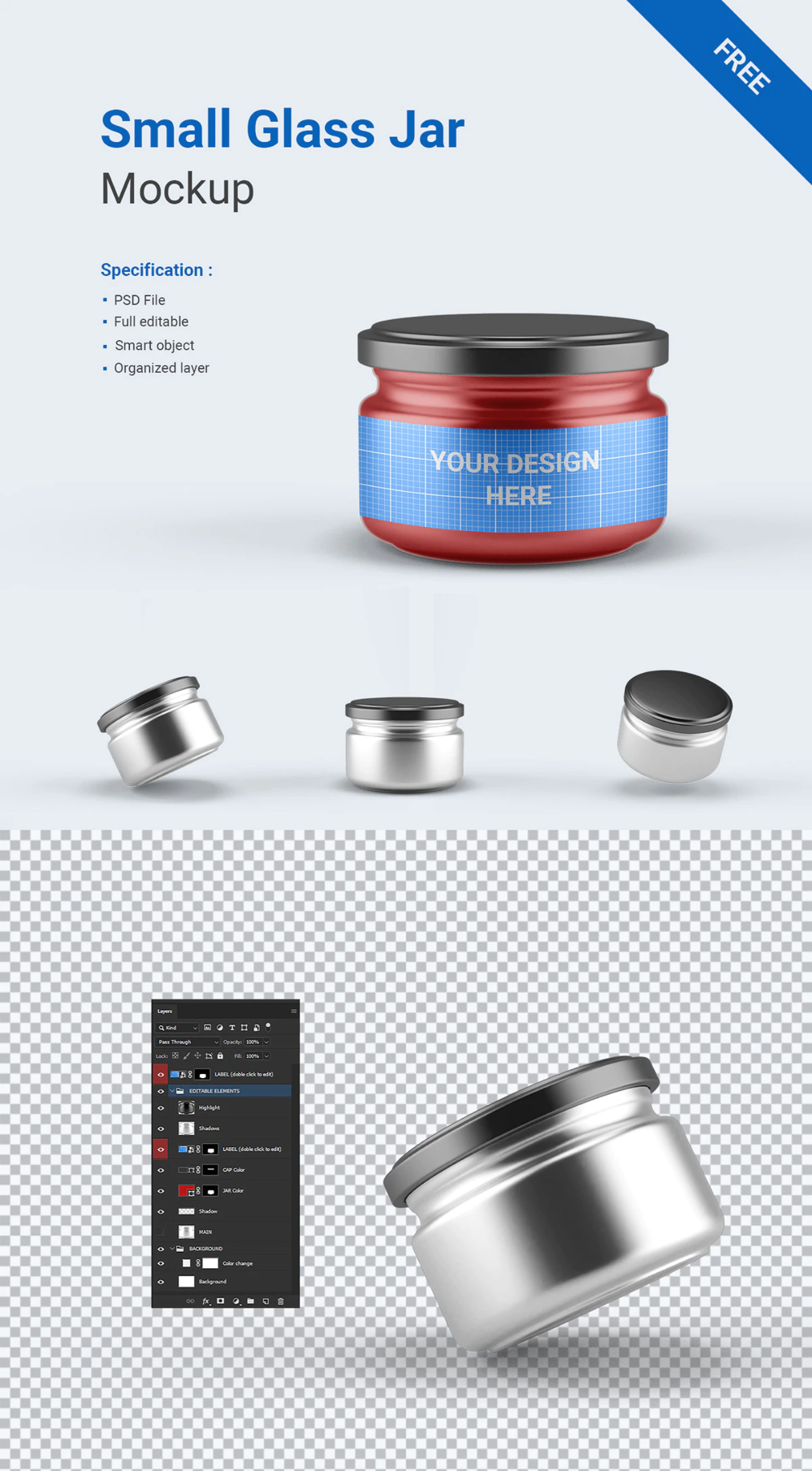 Download Free Small Glass Jar Mockup Free Design Resources Small Glass Jars Glass Jars Jar