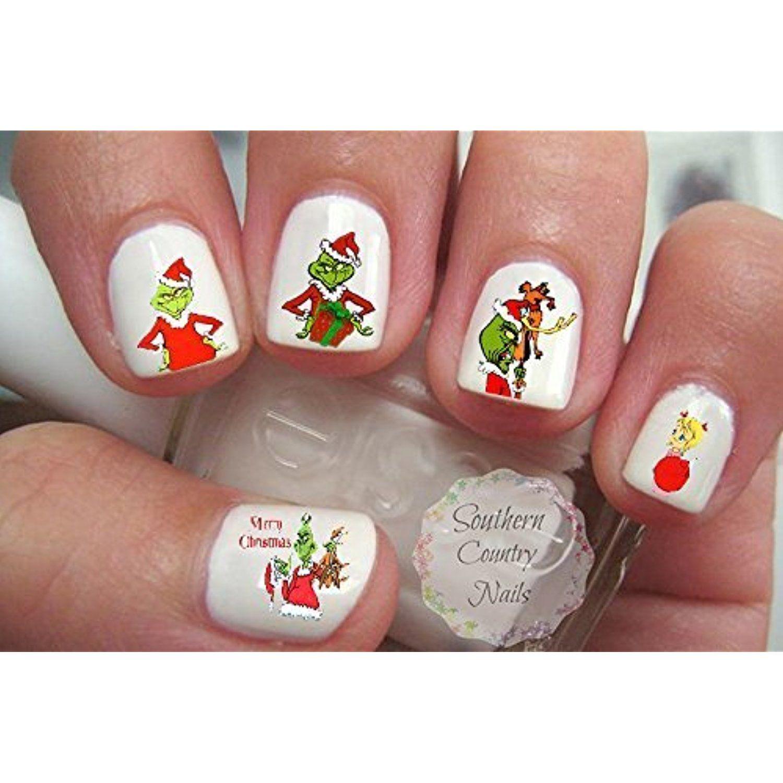 Christmas G Nail Decal Nail Art Fingernail Decals Nail -- Read more ...