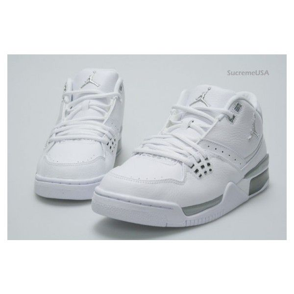 414a4fe388a Air Jordan Flight 23 White Metallic Silver ❤ liked on Polyvore ...