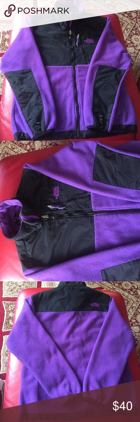 North face violet jacket Cute good condition The North Face Jackets & Coats