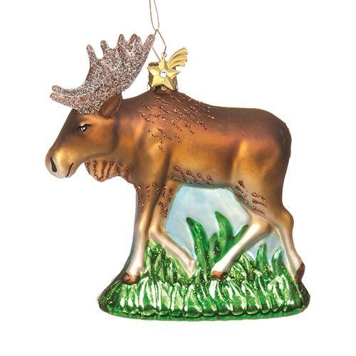 Roaming Moose Glass Ornament Christmas Ornaments Pinterest - moose christmas decorations