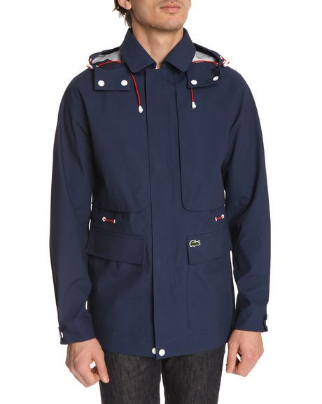 52246008cb Technique Navy Parka LACOSTE LIVE | Men's Classy Casual | Navy parka ...