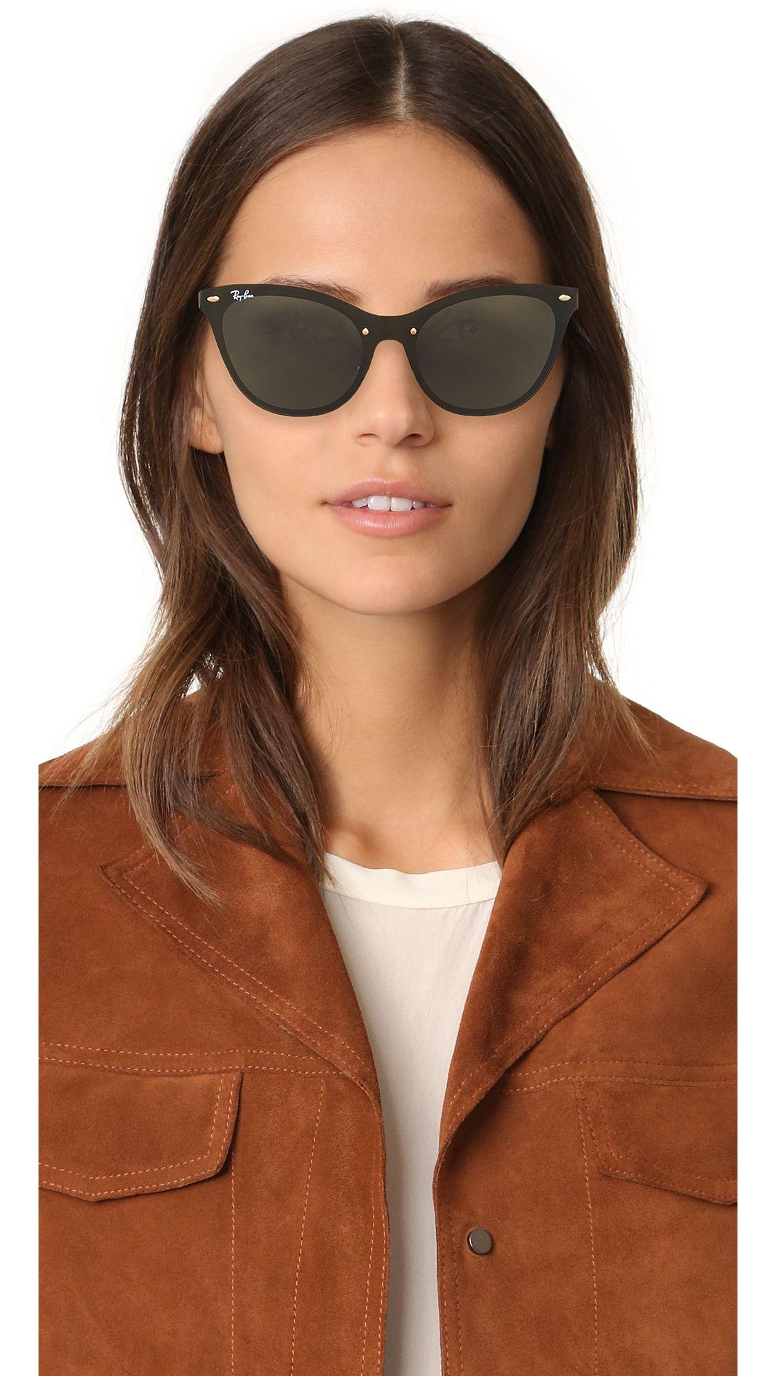 c62adddea72 Ray-Ban Cat Eye Flat Sunglasses