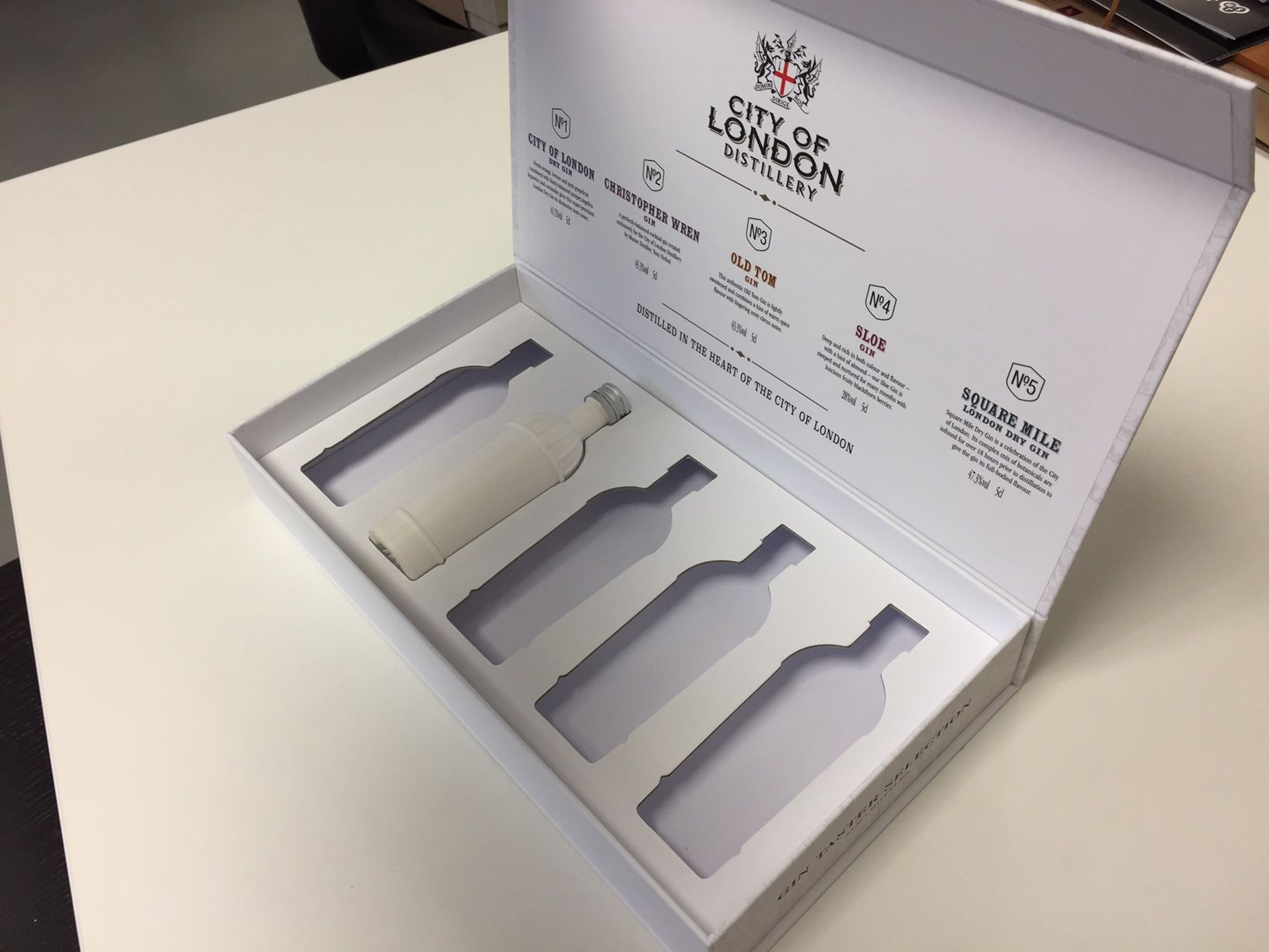 The way to use rigid board insert instead foam if you are after lower costs packaging.