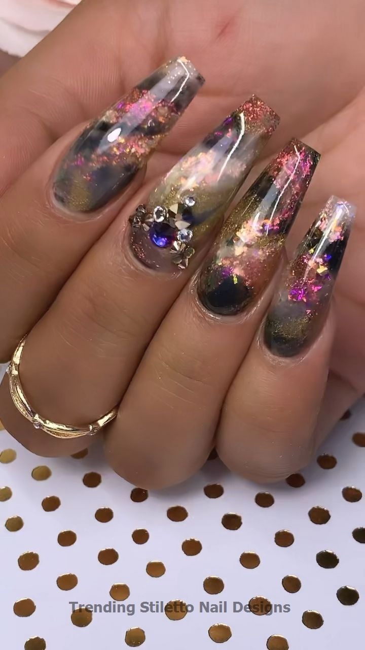 30 Great Stiletto Nail Art Design Ideas 1 In 2020 With Images
