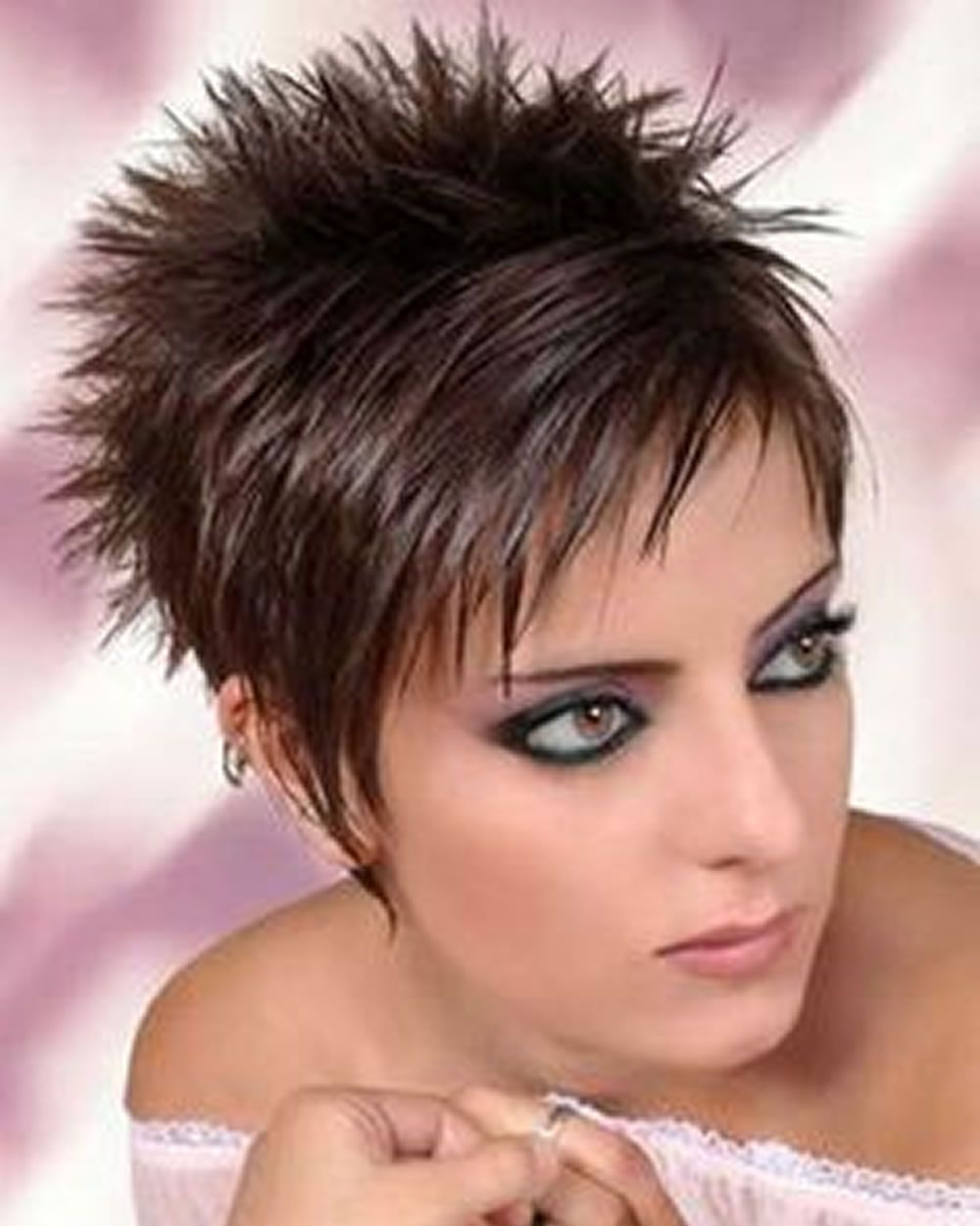 Image result for short spikey hairstyles for women over