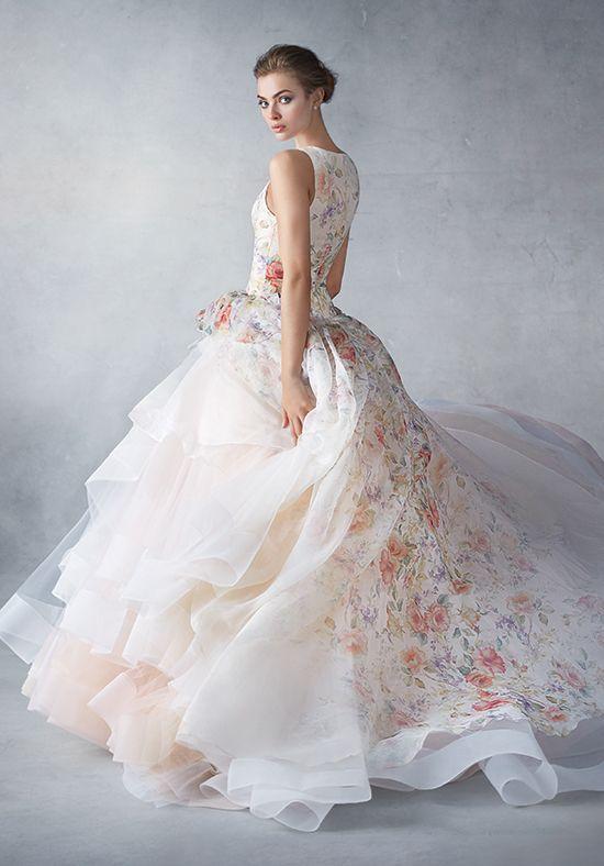 Tendance Robe du mariage 2017/2018 - Floral printed ball gown ...