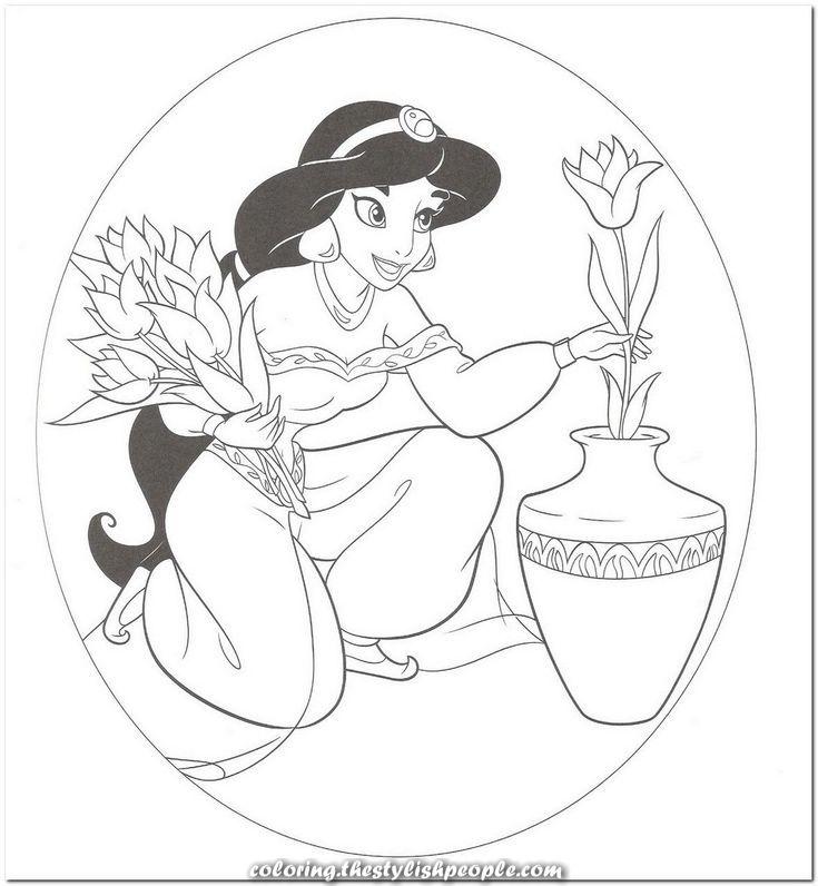 Disney princess coloring obtain