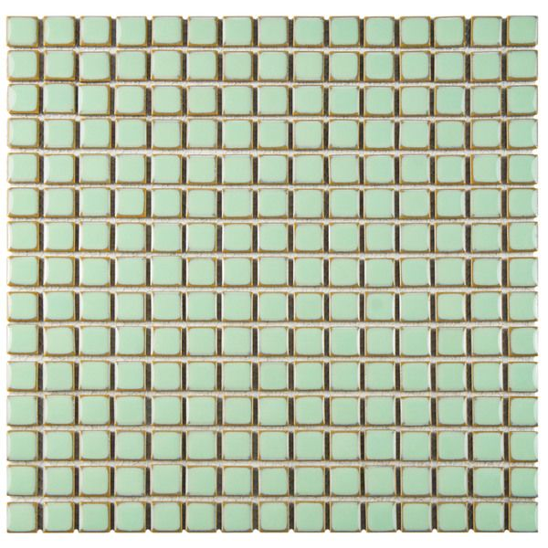 SomerTile 12.375x12.375-inch Frontier Light Green Porcelain Floor and Wall Tile (Case of 10) - Overstock Shopping - Big Discounts on Somertile Floor Tiles