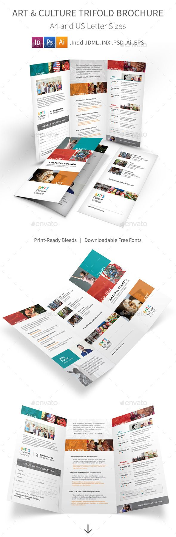 Art And Culture Trifold Brochure Template Printdesign Brochure