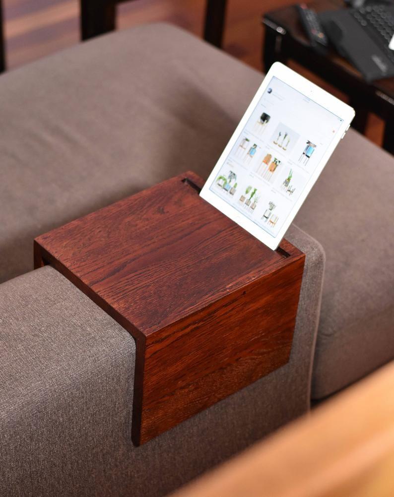 Sofa Arm Tray Sofa Arm Table Couch Arm Table Couch Arm Tray Couch Table Sofa Arm Rest Couch Armrest In 2020 Wooden Couch Couch Table Custom Sofa
