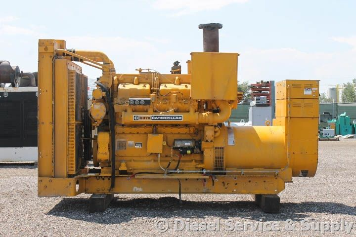 For Sale Caterpillar 450 Kw Standby Diesel Generator Model D379 1038 Hours 480 Volt 3 Phase Aut Gas Powered Generator Diesel Generators Generator House