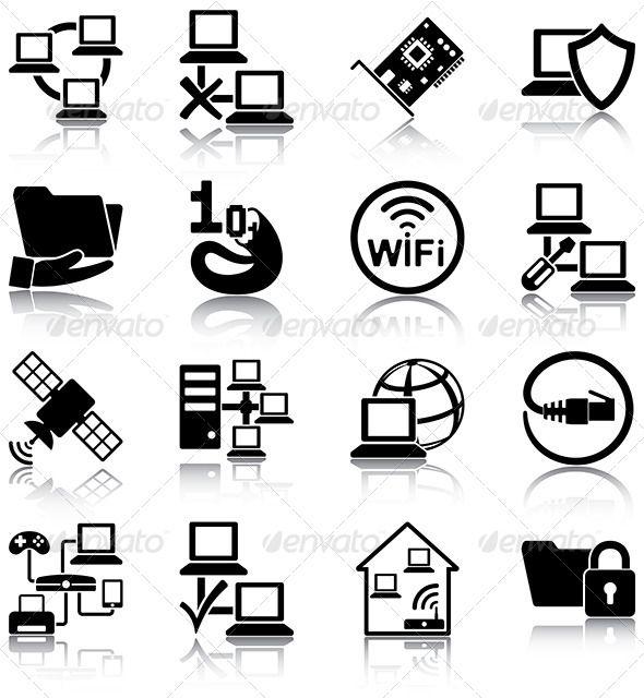 Computer Network Icons Network Icon Computer Network Technology Icon