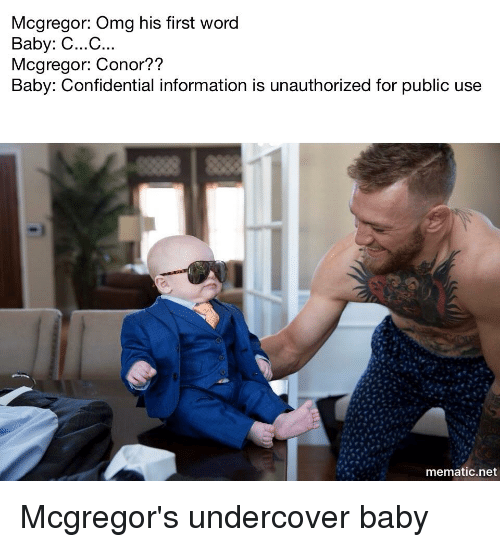 Conor Mcgregor Memes Conor Mcgregor Conor Mcgregor Baby 3 Piece Suits