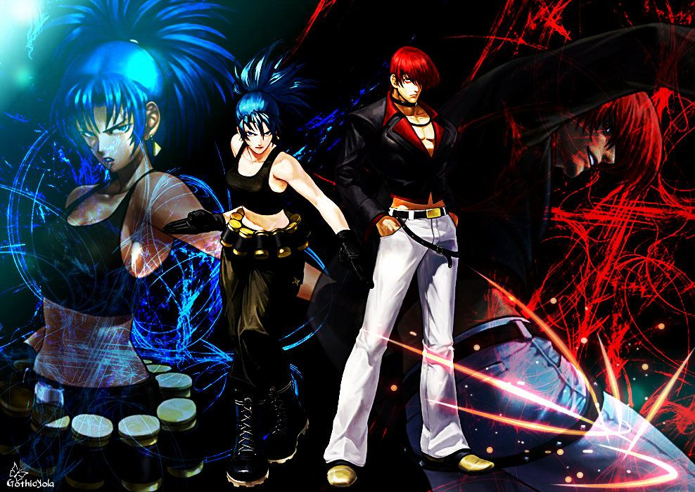 Wallpaper Leona And Iori Kof Xiii By Gothicyola On Deviantart King Of Fighters Anime Art Of Fighting