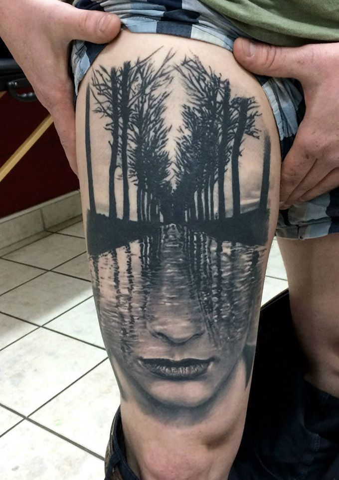 Image Result For Tattoo Model Tree From Leg To Face Tattoos