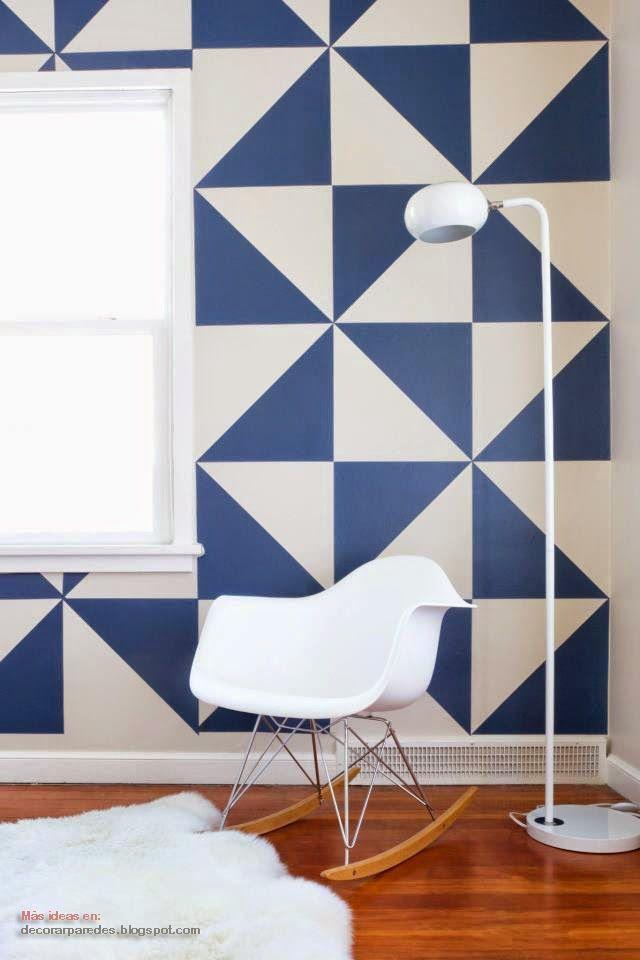 Decorar paredes con figura geom tricas casa en 2019 - Disenos para pintar paredes ...