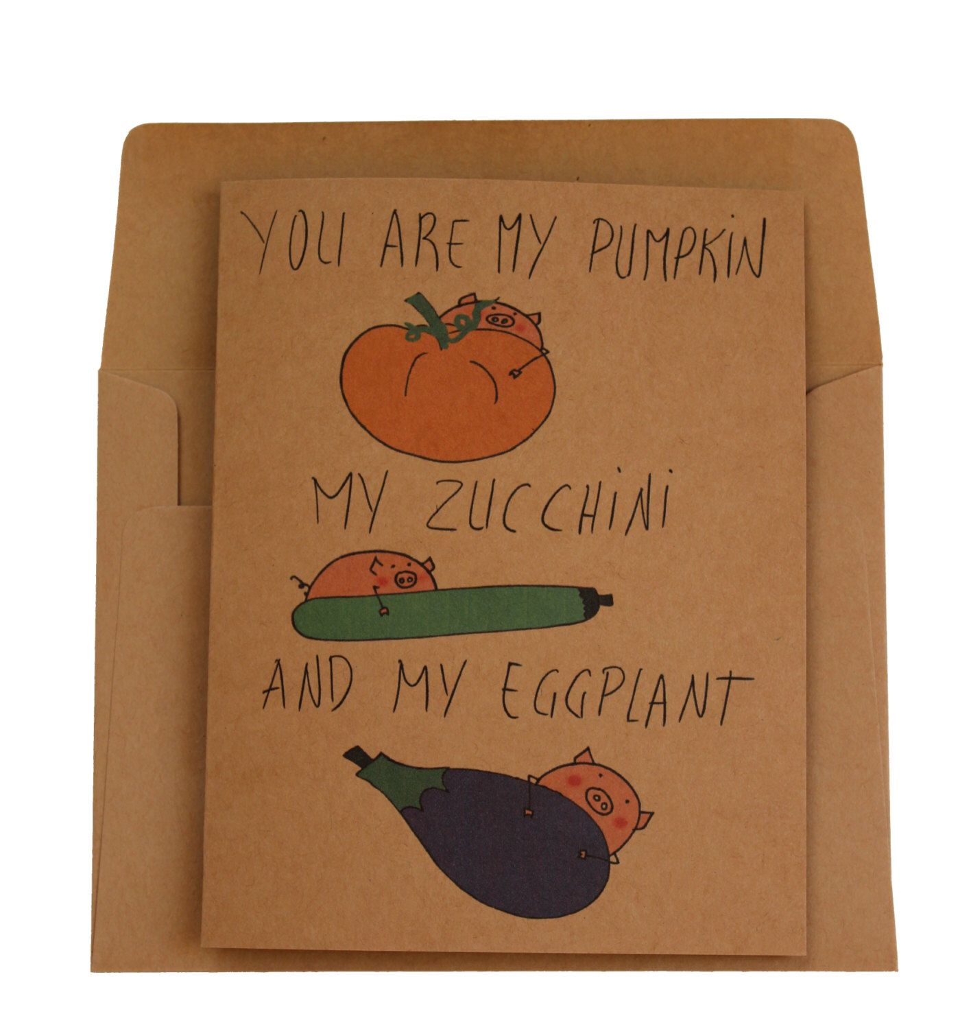 Pumpkin birthday card vegetarian girlfriend - Funny halloween card ...