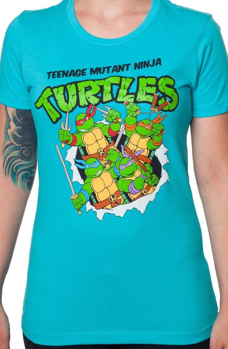 5cb8be2b Ladies TMNT Shirt: 80s Cartoons Teenage Mutant Ninja Turtles T-shirt ...