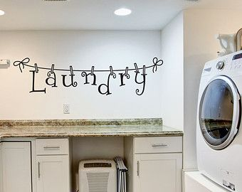 Laundry Decal Wall Decor Gorgeous Laundry Wall Decal  Wall Decal  Laundry Room Decor  Laundry Design Decoration