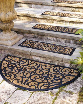 Demilune Stair Mat Traditional Doormats