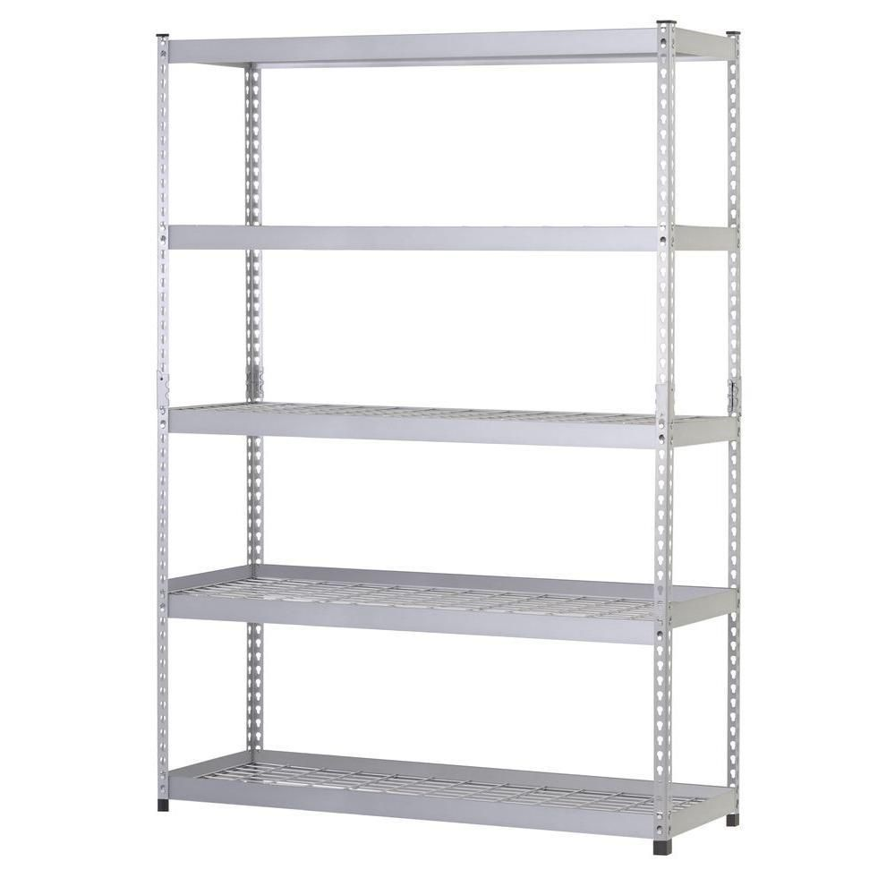 Strong And Sturdy The Husky Steel Shelf Unit Can Hold Up To 5 000 Pounds Steel Shelving Unit Shelving Unit Garage Shelving Units