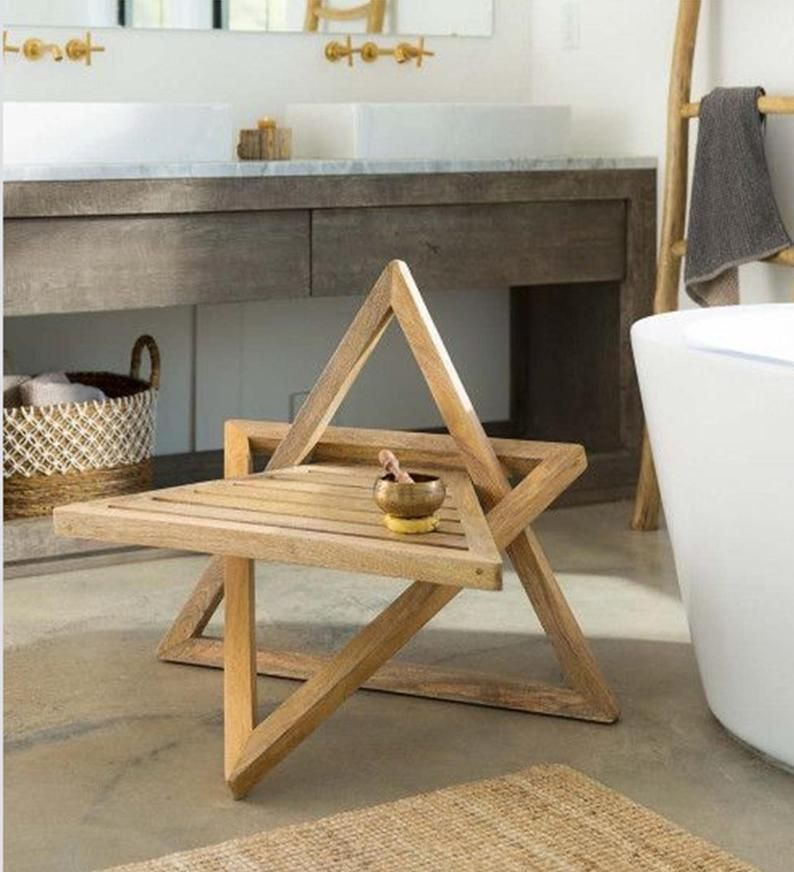 Bath Table Plan Yoga Table Plan Tub Stand Plan End Table Etsy In 2020 Wood Table Diy Meditation Chair Wood Furniture