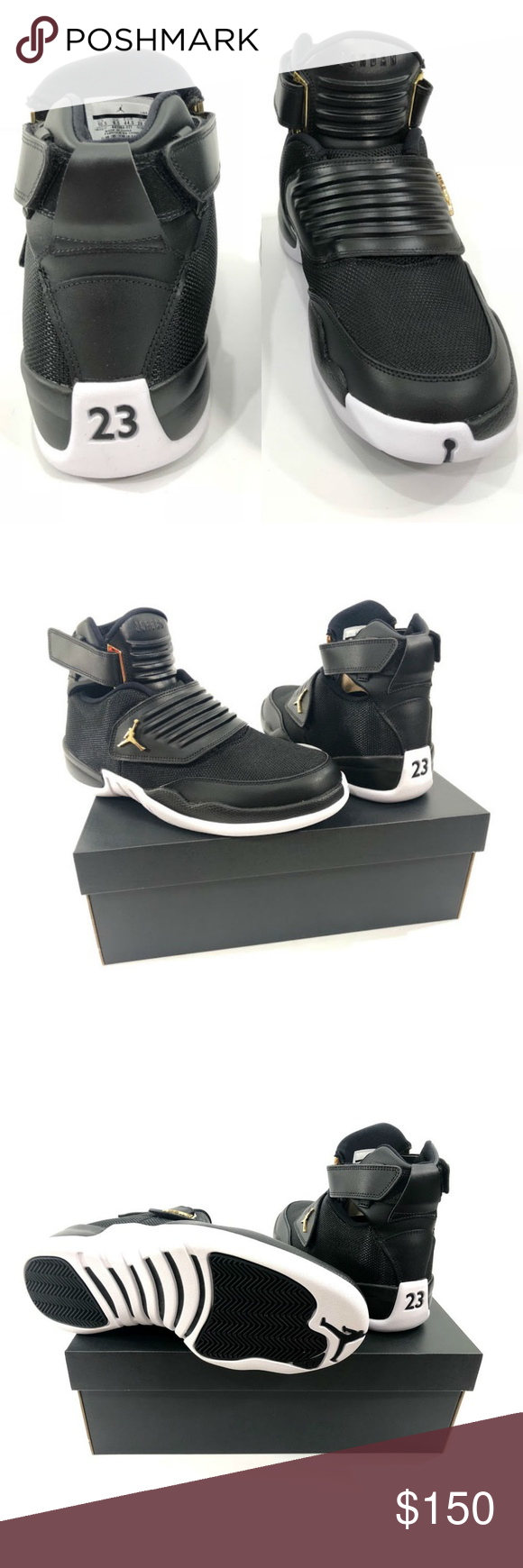 69f79b9da04e Air Jordan Generation 23 Men s Shoes AA1294 021 Air Jordan Jordan 23 Men s  athletic shoes Size 10.5 Black White   Metallic Gold High top New with box  Jordan ...