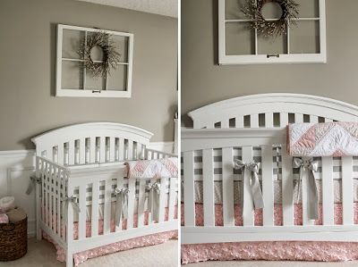 Country shabby chic girl nursery love the old window w for Above the crib decoration ideas