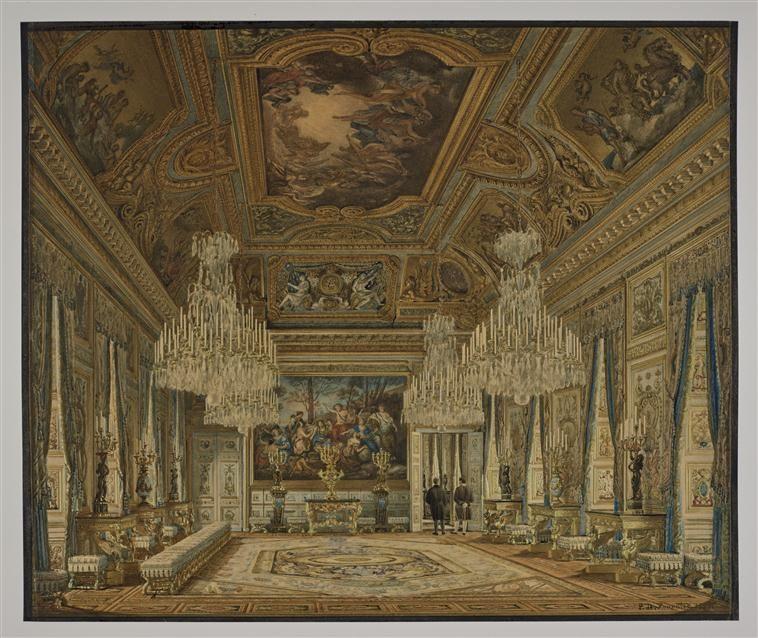 Vue du salon d 39 apollon au palais des tuileries jean for Salon d apollon