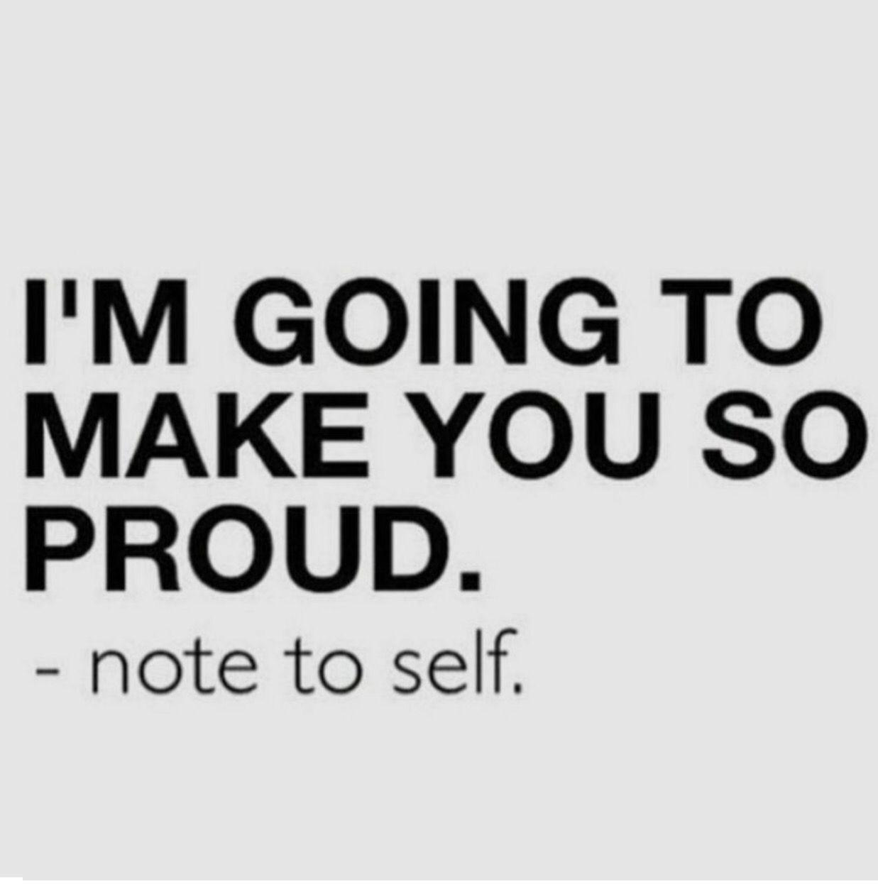 Att göra sig själv stolt